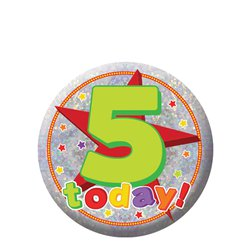 Happy 5th Birthday Badge - 5.5cm