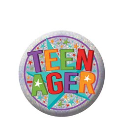 Teenager Holographic Badge - 5.5cm