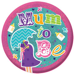 Mum To Be Holographic Badge - 15cm