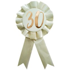 Rose Gold 30th Rosette Badge