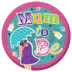 Large Mum To Be Holographic Badge - 15cm
