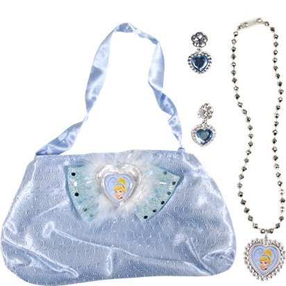 Disney Cinderella Bag & Jewellery Set - Fancy Dress Accessories front