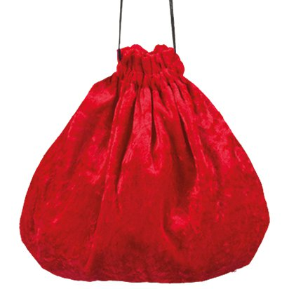 Red Pouch Bag - Halloween Fancy Dress Accessory - One Size front