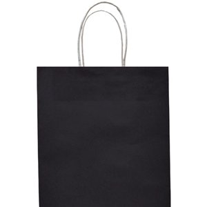 Black Paper Party Bag - Medium 25cm