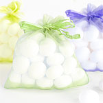 Pastel Organza Bags in Assorted Colours - 10 x 7cm
