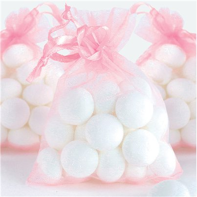 Light Pink Organza Bags - 10 x 7cm