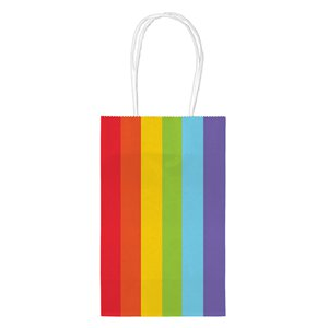 Rainbow Paper Party Bags - Small 21cm