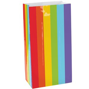 Rainbow Packaged Paper Bags - 24cm
