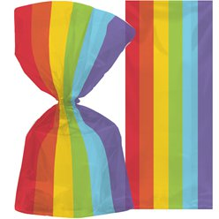Large Rainbow Plastic Party Bags - 29cm