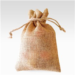Natural Hessian Bags - 9 x 12.5cm