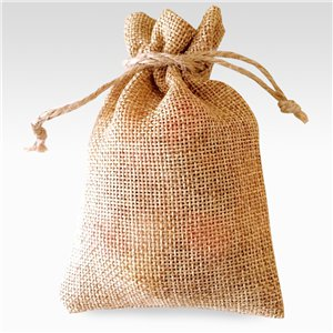Natural Hessian Bags - 17 x 12cm