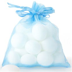 Light Blue Organza Bags - 10 x 7cm