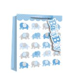 Medium Baby Boy Elephant Gift Bag - 25cm