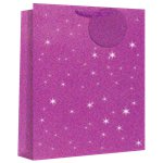 Large Pink Glimmer Gift Bag - 33cm