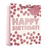 Large Birthday Dots Gift Bag - 33cm