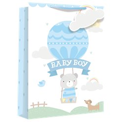 Extra Large Baby Boy Balloon Gift Bag - 45cm