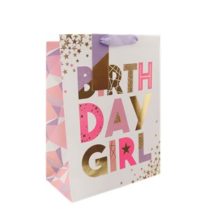 Birthday Girl Medium Gift Bag - 25cm