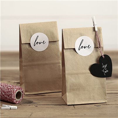 Wedding Kraft Love Treat Bags