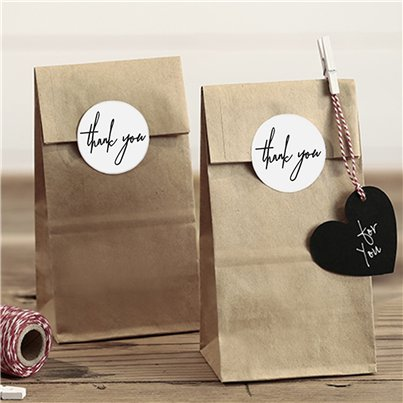 Wedding Kraft Thank You Treat Bags