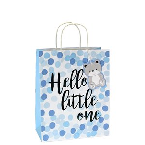 Blue Spot Hello Little One Medium Gift Bag - 25cm