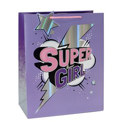 Super Girl Large Gift Bag - 33cm