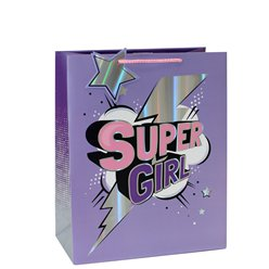 Super Girl Medium Gift Bag - 25cm