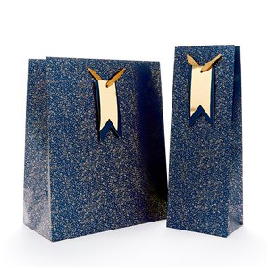 Blue Speckle Large Gift Bag - 33cm