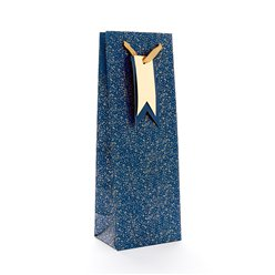 Blue Speckle Bottle Gift Bag - 33cm