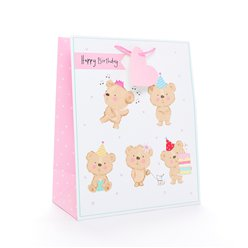 Happy Birthday Bear Gift Bag - Large