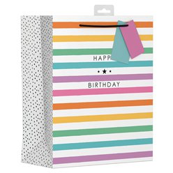 Colourful Stripe Large Gift Bag