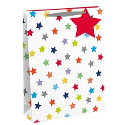 Rainbow Stars Large Gift Bag