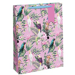 Tropical Birds Large Gift Bag