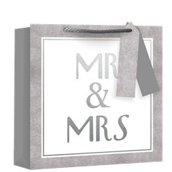 Medium Mr & Mrs  Square Gift Bag - 25cm