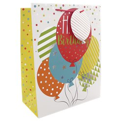 Birthday Balloons Large Gift Bag - 33cm