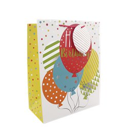 Birthday Balloons Medium Gift Bag - 25cm
