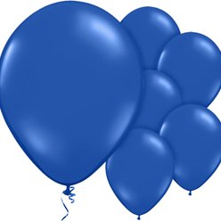 "Evening Blue Plain Balloons - 12"" Latex"
