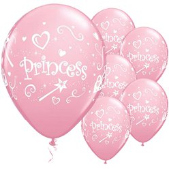 "Princess Pink Balloons - 11"" Latex"