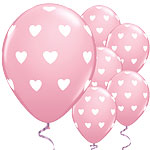 "Big Pink Hearts Balloons - 11"" Latex"
