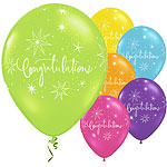 "Congratulations Elegant Balloons - 11"" Latex"