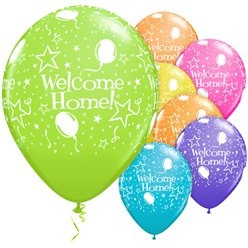 "Welcome Home Assorted Stars Balloons - 11"" Latex"
