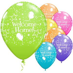 Welcome Home Assorted Stars Balloons - 11