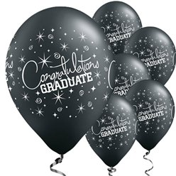 "Black Graduation Balloons - 11"" Latex"