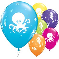 Assorted Fun Sea Creatures Balloons - 11