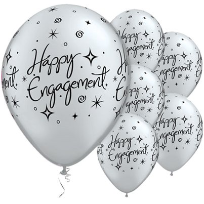 "Engagement Elegant Sparkles Balloons - 11"" Latex"