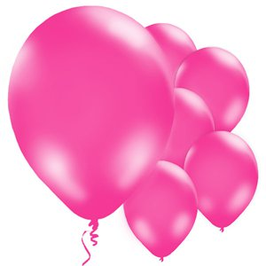 Hot Pink Balloons - 11'' Latex