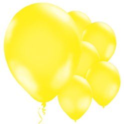 "Yellow Balloons - 11"" Latex"