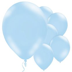 Powder Blue Balloons - 11'' Latex