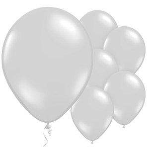 Silver Balloons - 11'' Metallic Latex