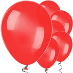"Red Balloons - 11"" Metallic Latex"