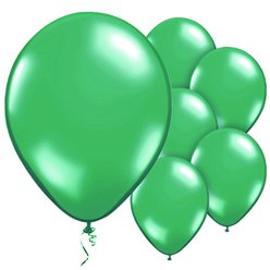 "Green Balloons - 11"" Metallic Latex"